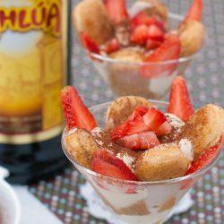 Eggless tiramisu (served in a glass) recipe