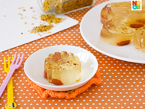 Chinese Jelly Cake Recipe: Osmanthus Jelly Recipe (桂花糕