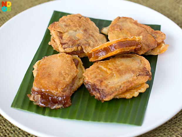 Nian Gao Sweet Potato Sandwich Recipe | NoobCook.com