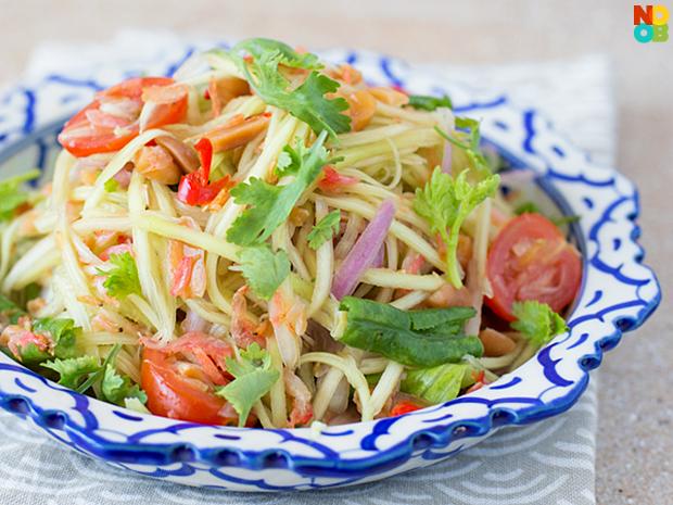Thai green mango salad (Som Tum Mamuang)
